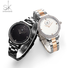 2019New Shengke Watches Women Luxury Diamond Bracelet Waterproof Ladies WristWatch Female Quartz Clock Dropshipping Montre Femme