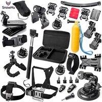 SnowHu for Gopro Accessories set for go pro hero 7 6 5 4 3 kit mount For SJCAM SJ7000 For xiaomi yi 4K camera For eken h9 GS16