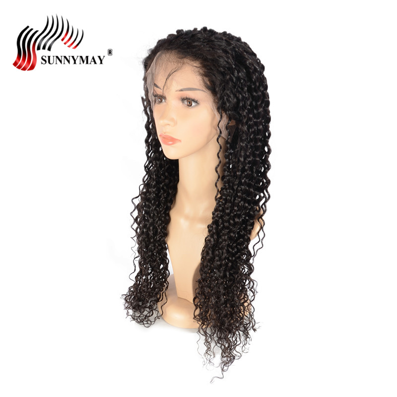 Sunnymay Spanish Wave Full Lace Human Hair Wigs Pre Plucked Bleached Knots Brazilian Virgin Hair Full Lace Wig With Baby Hair