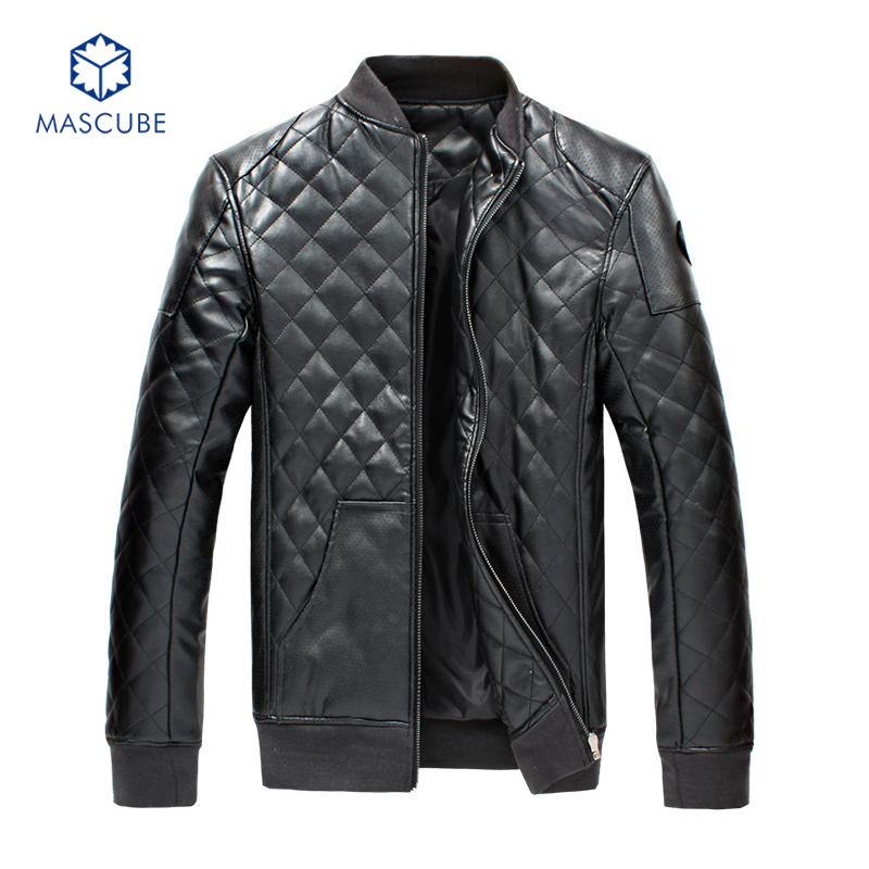 Hot Selling Mens Jackets and Coats Motorcycle Black PU Men Fashion Leather Jacket veste en cuir homme Mens Hooded Leather Jacket