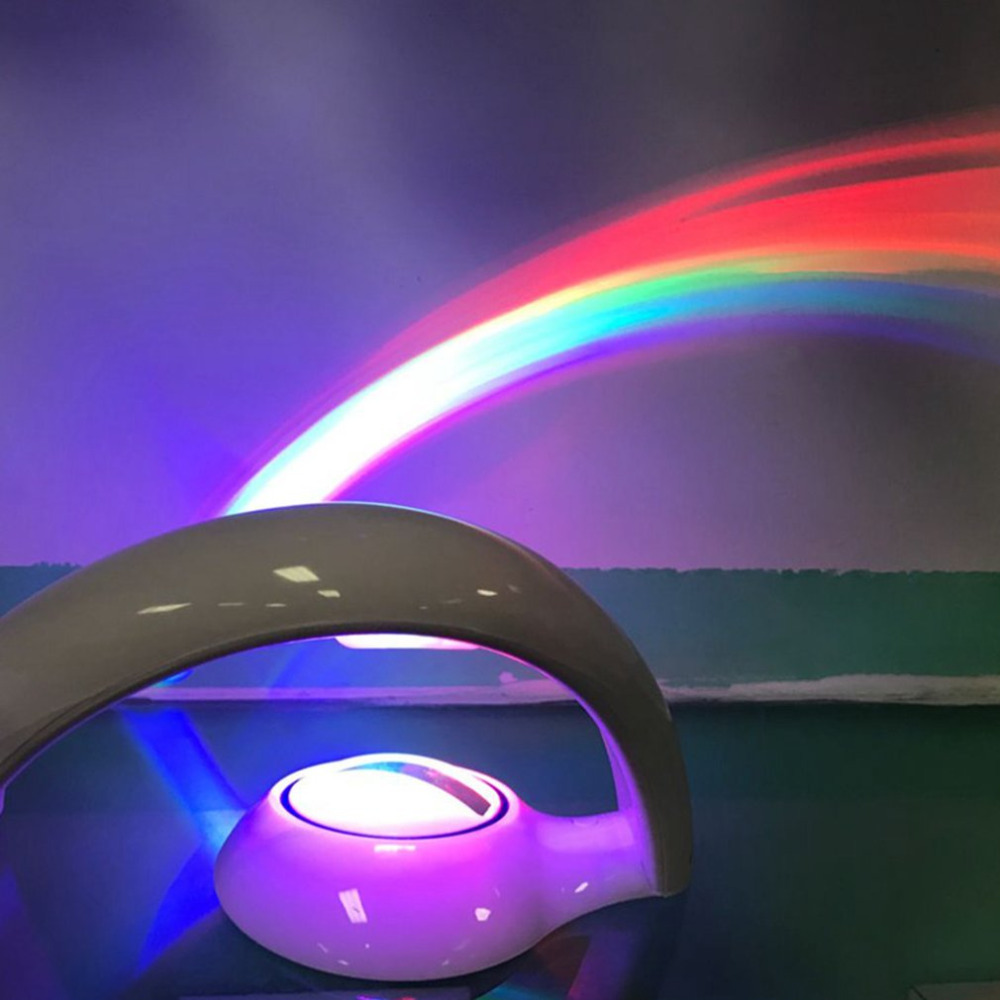 2018 NEW Arrival Home Decoration Lucky Rainbow Light Amazing Rainbow Projector 3D LED Lamp Baby Room Night Light Projector