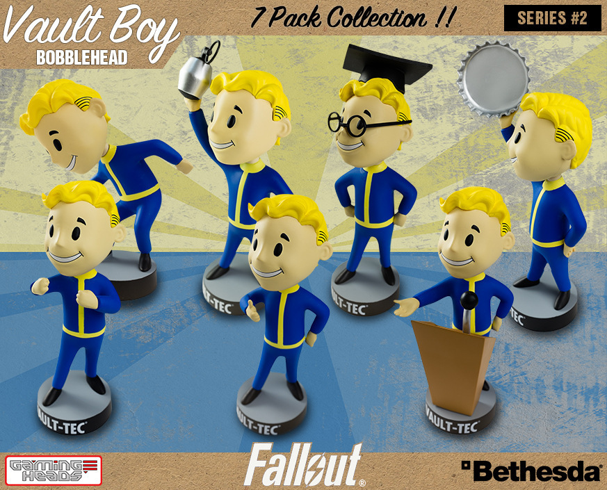7pcs/lot 13cm Fallout Figures Vault Boy 7 Pack Collection Figma Anime Doll Model Bobblehead Puppets Toys Shaking his head spirit lucario aciton figures puppets character model anime figure vinyl doll pocket monster toys figures boys birthday gifts