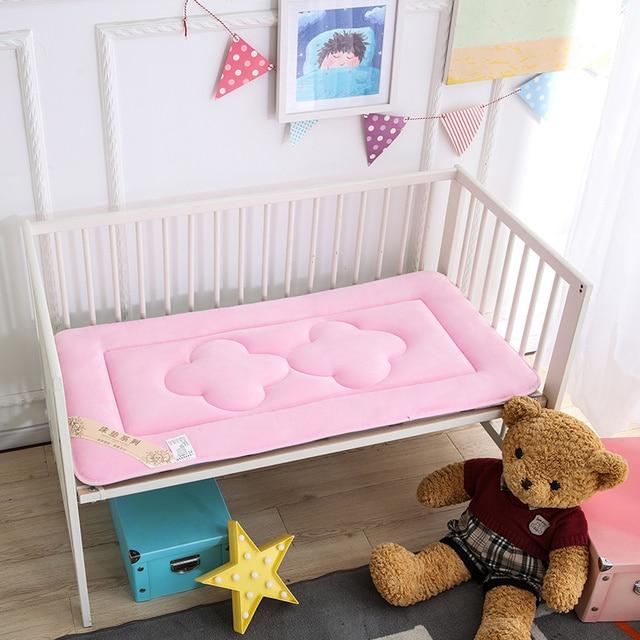 65x120 cm Draagbare Baby Kinderen Crib En Peuter Matras Pad Cover Ademend Draagbare Afneembaar En Wasbaar Upgrade