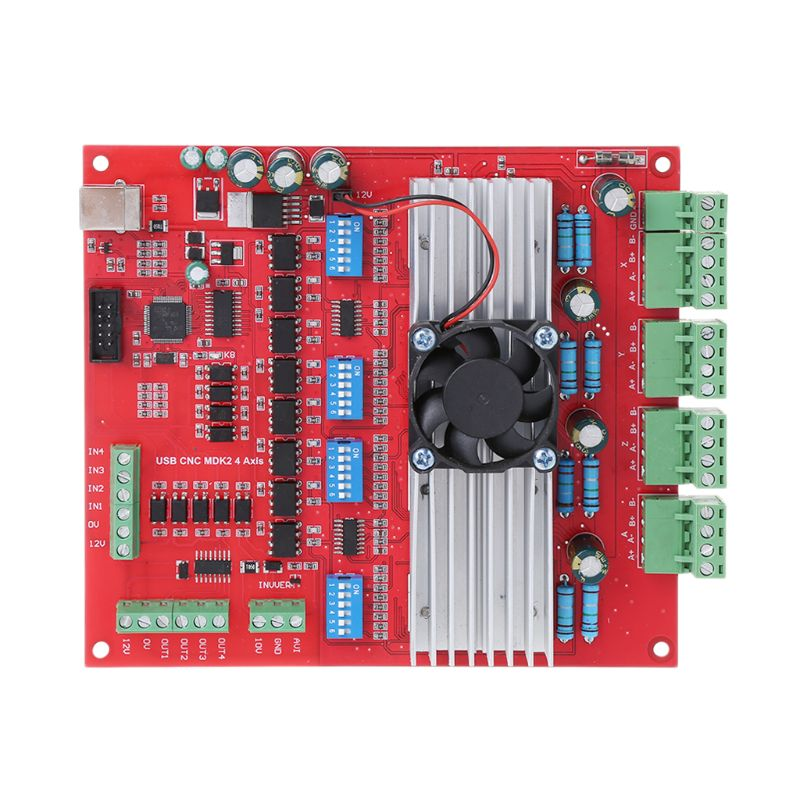 MACH3 CNC USB 100Khz Breakout Board 4 Axis Interface Driver Motion Controller cnc mach3 breakout board 4 usb interface 100khz driver motion controller card with usb cable