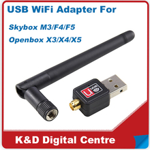 150Mbps Skybox USB WiFi Adapter/ Mini USB WiFi Dongle For Skybox, Openbox Free shipping cost