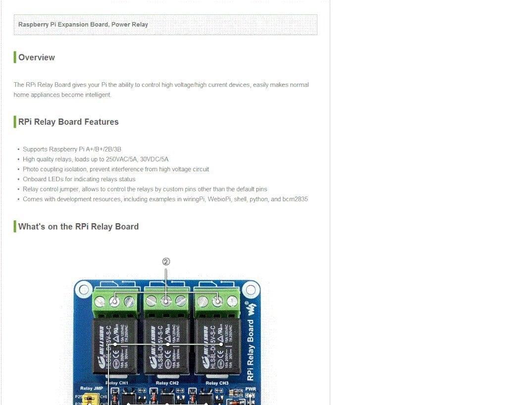 Waveshare Raspberry Pi Power Relay Board Expansion Hc Sr04 Wiringpi Rpi Screws Pack 2pcsx 1