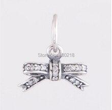 925 plata esterlina encantos cupieron las pulseras Pandora del arco pave zirconia cuelga los colgantes del encanto de la joyería DIY LW377