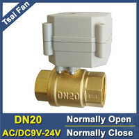 Full Port Brass DN20 Normally Open Normally Close Valve AC/DC9V-24V BSP/NPT 3/4'' Electric Shut Off Valve For Home Water
