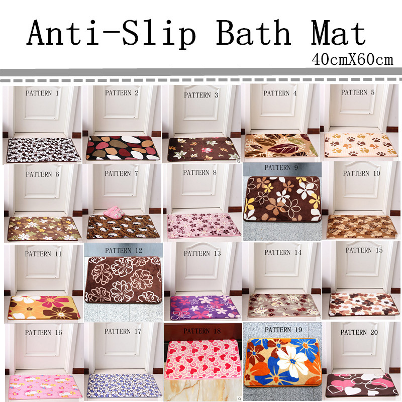 Free Shipping 40cmX60cm Bath Mat Chair Cushion 20Patterns Floor Carpet Home Decor Doormat Absorbent Non-Slip Prayer Mats