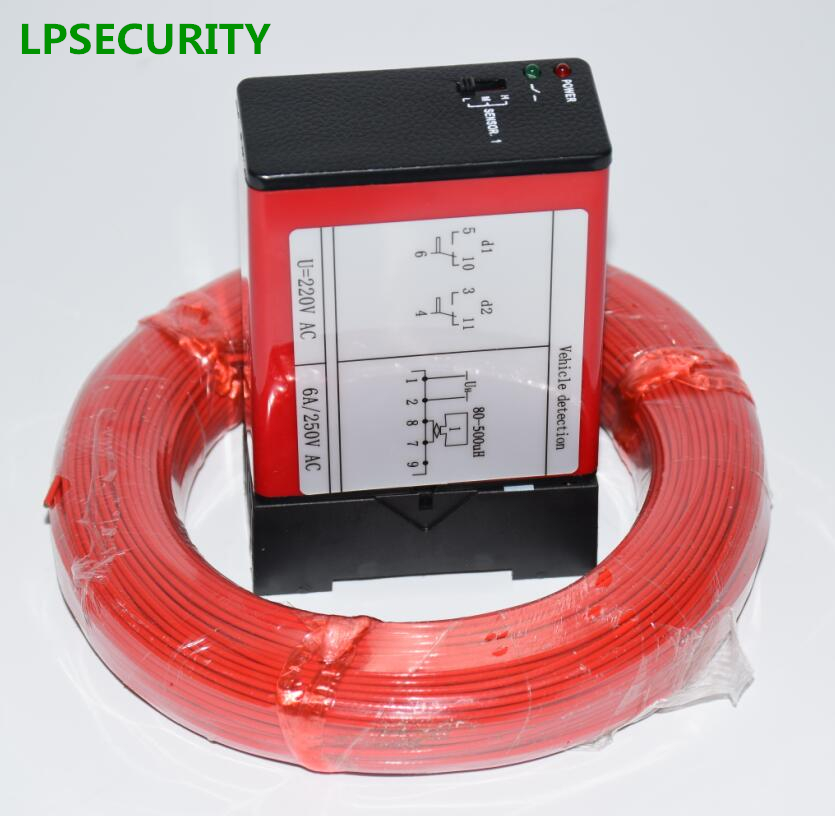 LPSECURITY barrier gate Single Channel Loop Detector, Inductive Loop Safety Vehicle Detection Systems with 50m loop cable 0.75mm процессор intel xeon e3 1220 v2 cpu