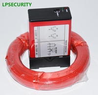 LPSECURITY barrier gate Single Channel Loop Detector, Inductive Loop Safety Vehicle Detection Systems with 50m loop cable 0.75mm