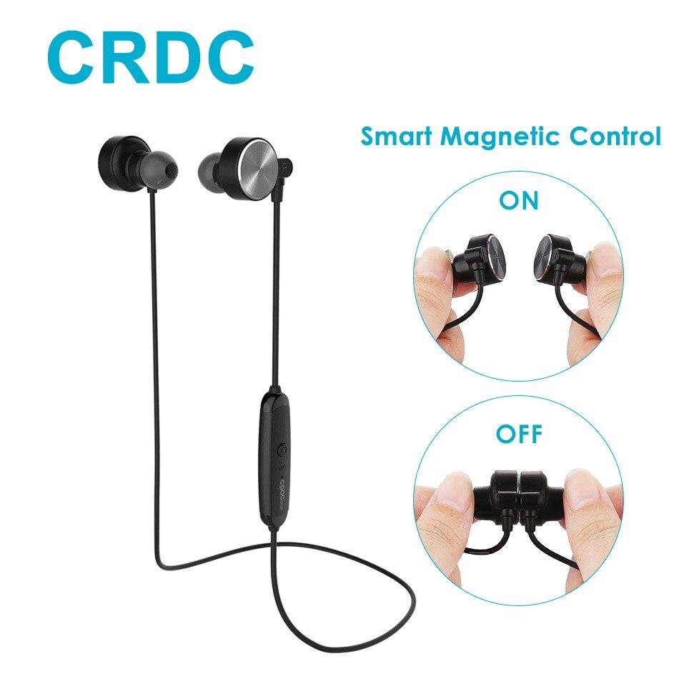 Intelligente Magnetische Bluetooth Kopfhörer, CRDC Schlanke Kabellose Kopfhörer IPX6 Sweatproof Sport Headset mit Mic Für Xiaomi xiomi iPhone
