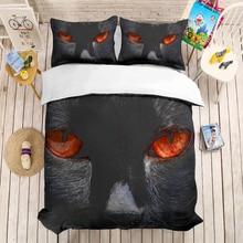 Cat eyes 3D bedding set Duvet Covers Pillowcases comforter sets bedclothes bed linen Animal cat eye queen King