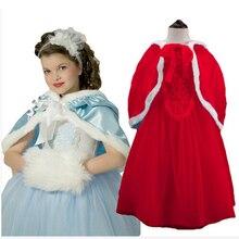 2016 новый 1 шт. Эльза платье Девушка Платье Принцессы Летом с длинным рукавом алмаз платье Эльза Костюм, рождество платье