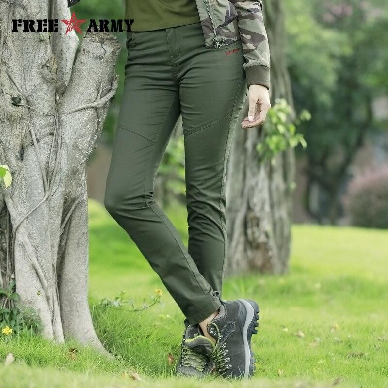 Freearmy Women's Classic Trouser Full Length Autumn Pants Slim Fitting Pencil Pants Zipper Fly Casual Stretch Track Pants Women