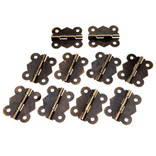10Pcs Antique Bronze Butterfly Door Cabinet Hinges Iron Hinges Furniture Accessories Wood Box Hinges Furniture Fittings 40x34mm 10pcs 16 13mm antique bronze gold cabinet hinges furniture accessories jewelry boxes small hinge furniture fittings for cupboard