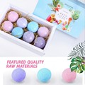 Skin Care Set 8pcs Organic Bath Care Salt Bombs Bubble Salts Ball Oil Sea Salt Handmade SPA Stress Relief Exfoliating Body Care