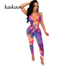 Kakan 2019 new hot womens jumpsuit digital printing fashion casual sexy