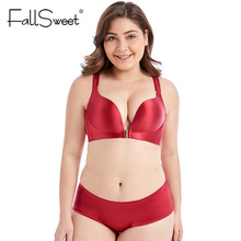 FallSweet Front Closure Bras Set Sexy Lace Beauty Back Lingerie Set Push Up Underwear Set for Women
