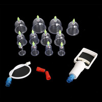 12 Cups Chinese Medical Cupping Set Acupuncture Magnets Point Therapy Massage