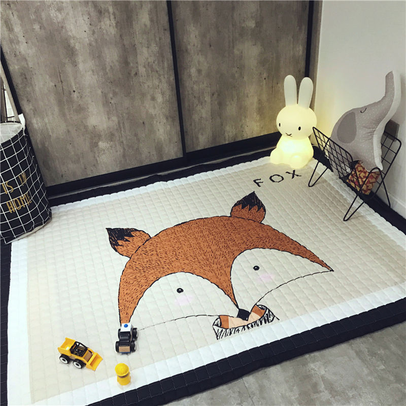 1.5cm Thickness Foldable Baby Play Mat Children Play Carpet 145*195cm Washable Rug For Living Room Kids Crawling Blanket Cushion cartoon baby child playmat dogs print exclusive blanket 145 195cm skidproof house floormat boys girls game carpet 1 5cm rug