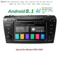 HD 1024*600 Android 8.1 Car GPS Multimedia Player For 2004 2005 2006 2007 2008 2009 Mazda 3 2Din GPS Wifi 4G FM SWC Cam Navi RDS