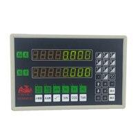 LED digital display linear encoder 2 axis DRO gcs899 2c and 5u ruler lathe test equipment