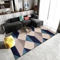 Nordic Modern Art Retro Geometric Carpet for Living Room Bedroom Anti skid Big Size Soft Rugs and Carpets 140x200cm Floor Mats