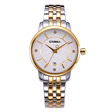 Ladies watches women Fashion Luxury classic Stainless steel Gold Quartz watch waterproof 50m CASIMA 5119