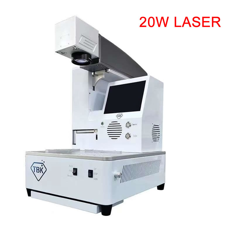 958A 20W LCD Fiber Laser Repair Machine For IPhoneX XS Max 8 8+ Back Cover Glass Frame Separating Laser Engraving machine