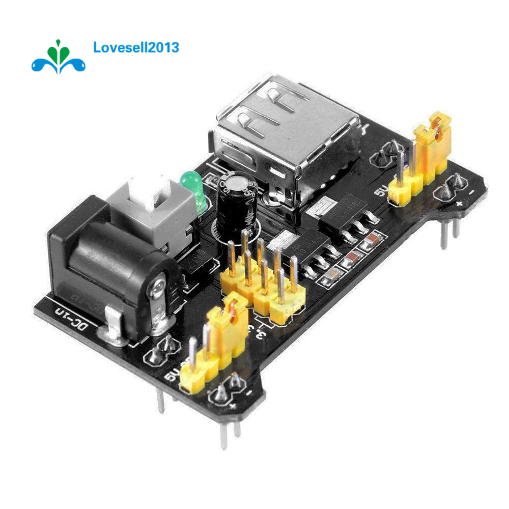 5 PCS MB102 Breadboard Power Supply Module 3.3V 5V For Solderless Breadboard