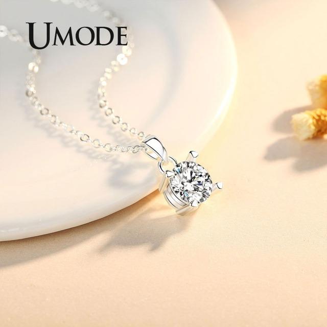 UMODE marcas collar de Zirconia colgantes largos regalos para mejores amigos para mujeres moda coreana niños joyería sautoir mujer UN0309