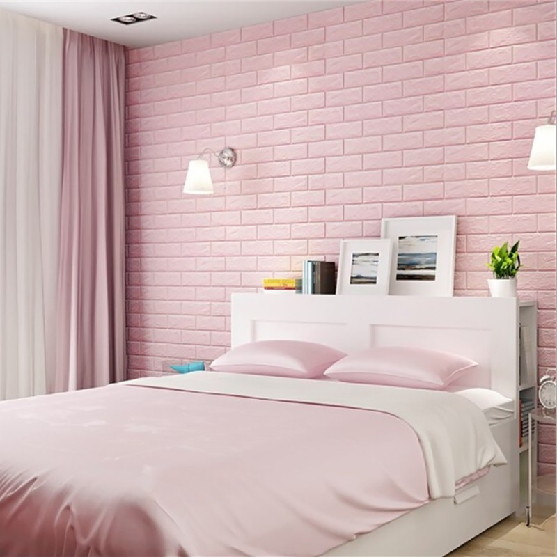 70X30CM PE Foam 3D Wall Stickers Safty Home Decor Wallpaper DIY Wall Decor Brick Living Room Kids Bedroom Decor Brick sticker