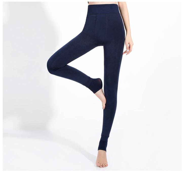CHLEISURE Winter Warm Leggings Women High Waist Thick Velvet Legging Fashion Solid Large Size Autumn Leggings S-XL 8 Colors 14
