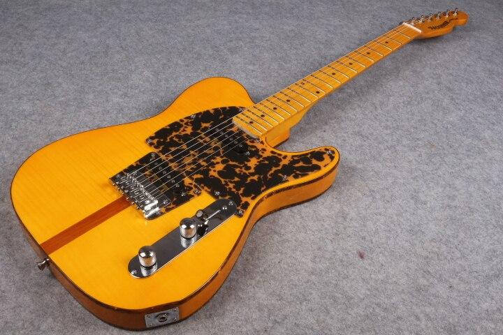 Mad cat Vintage Rare guitare électrique flamme érable haut jaune finition plus jolie tortue rouge Pickguard & Body reliure livraison gratuite