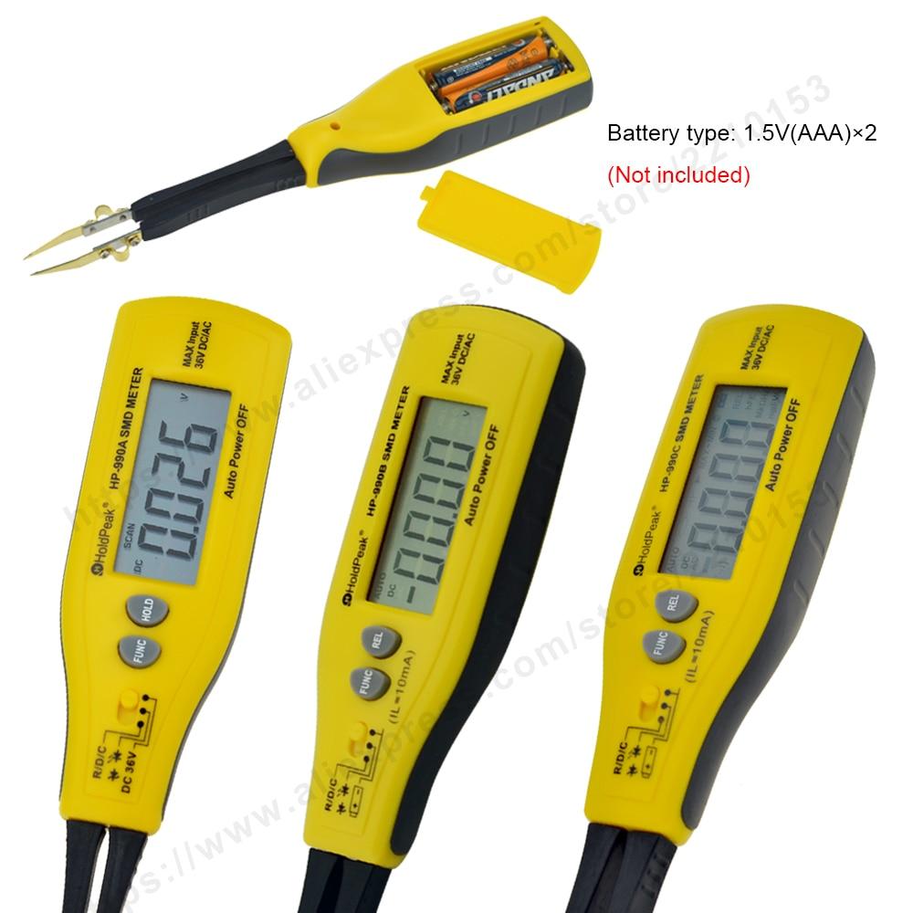 HoldPeak 990A / B / C 3000-6000 Conta SMD Tester Multimetro digitale - Strumenti di misura - Fotografia 3