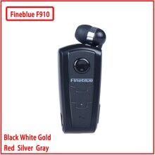 Fineblue F910 Mini Draagbare Draadloze Bluetooth Oortelefoon Headset In-Ear Vibrerende Alert Dragen Clip Handsfree Voor Telefoon