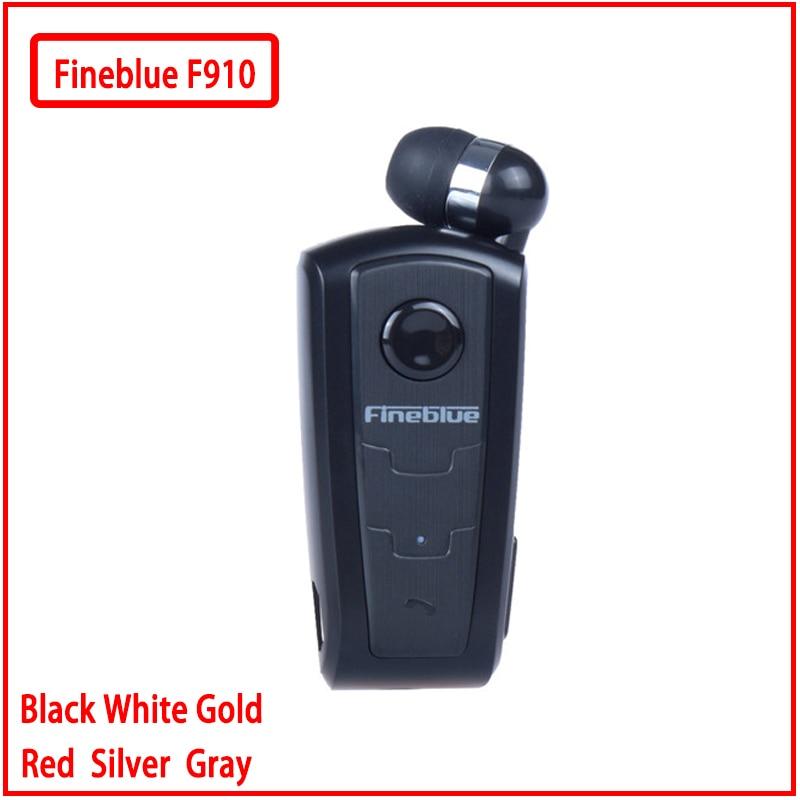 Fineblue F910 Mini portable sans fil Bluetooth écouteur casque dans loreille vibrant alerte usure pince mains libres pour téléphone