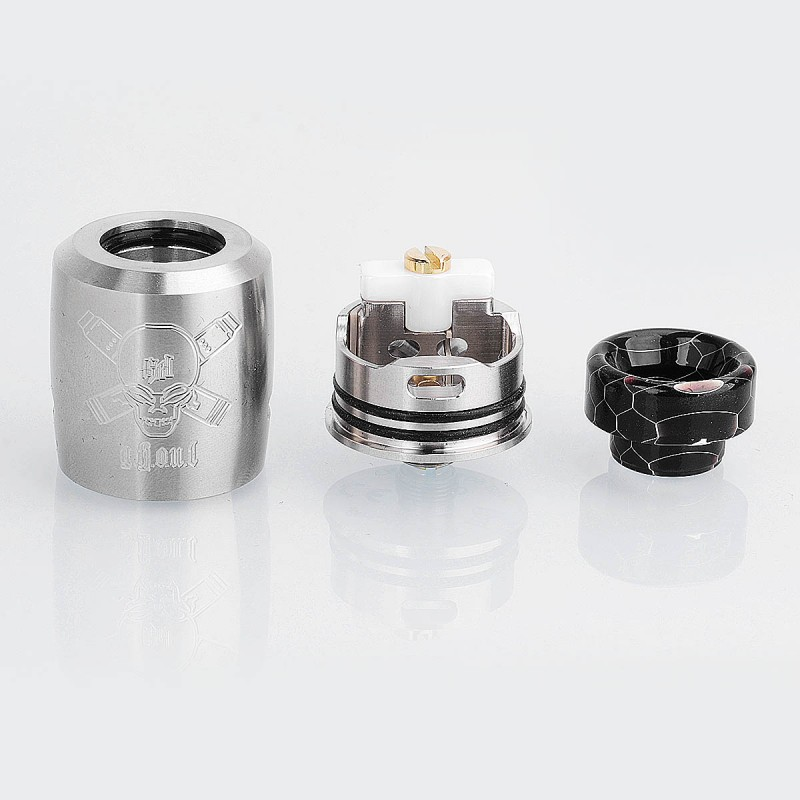 Original Blitz Ghoul BF RDA 22mm Rebuildable Dripping Atomizer Ceramic  Clamp Single Coil for BF / Mechanical Mod
