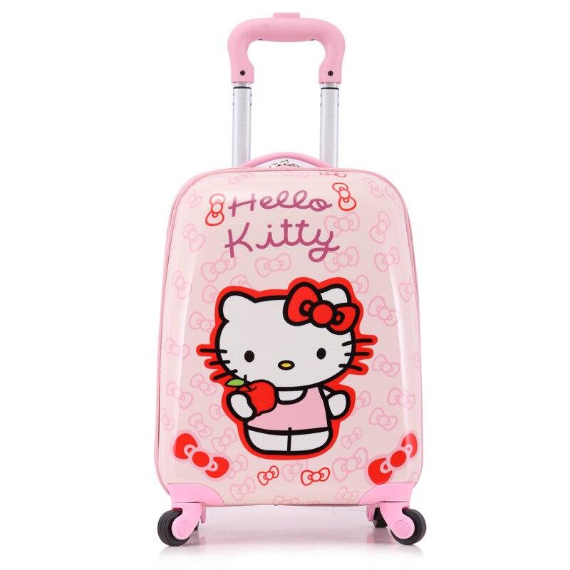 18 дети милые багаж на универсальные диски, мультфильм, принцесса Hardside мультфильм багаж, девушка подарки