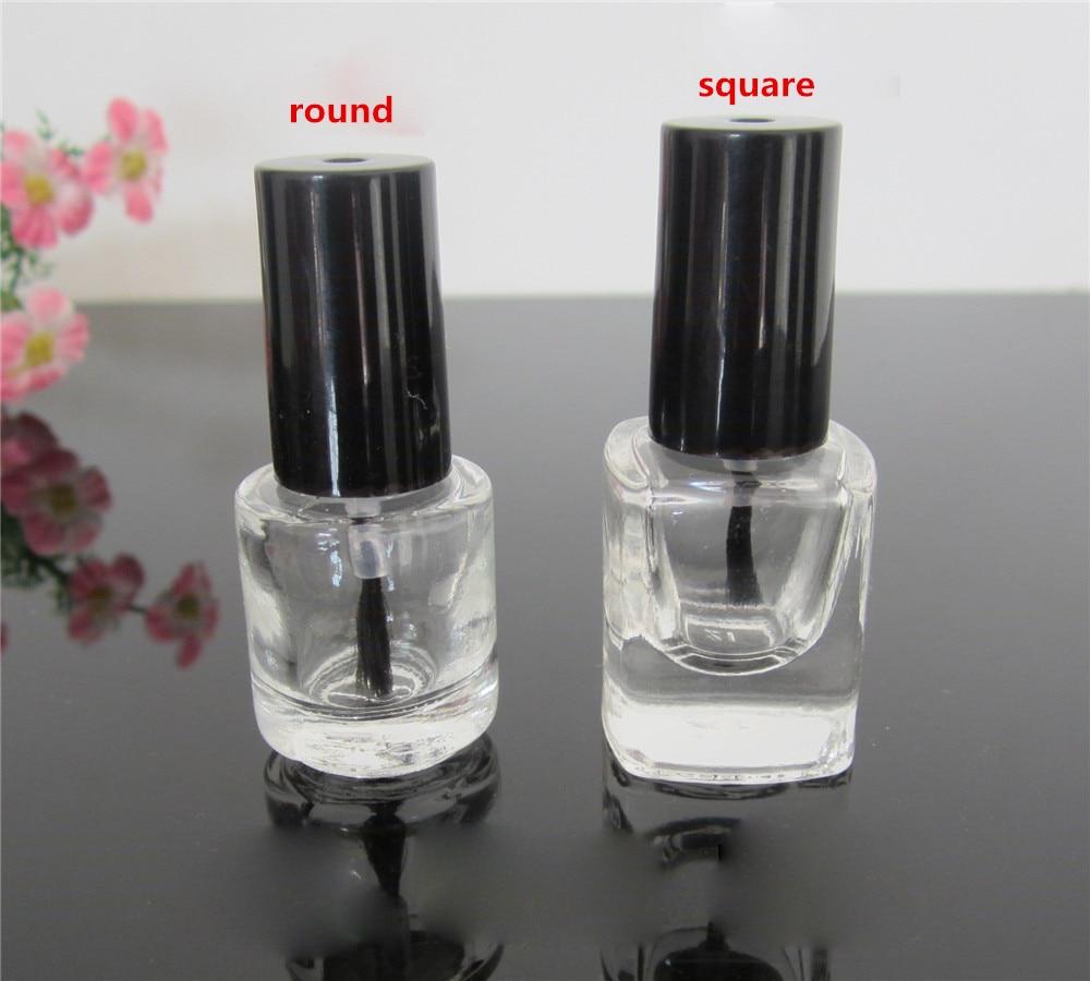 How To Empty A Nail Polish Bottle: (50pcs/lot)x 5ml Mini Clear Glass Bottles Empty Nail