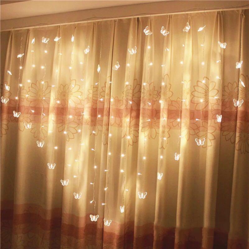 JUNJUE LED Love Shape Clip String Lights Fashion Photos Powered Lamp Christmas Holiday Wedding Home Decoration Fairy Light Strip