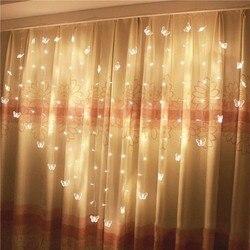 JUNJUE LED Love Shape sznur ze świecącymi klipsami zdjęcia mody zasilana lampa świąteczna dekoracja ślubna bajkowe oświetlenie