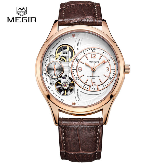 MEGIR hot brand waterproof quartz watch man fashion leather strap wristwatches men casual male masculino relojes watch hour 2017