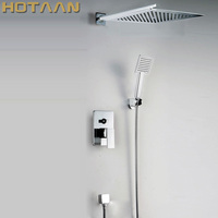 Free Shipping Modern Luxury 10 Inch Big Bath Shower Faucets Mixers Taps Bathroom Shower Sets Hotels