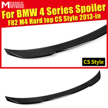 купить Rear Spoiler Tail Hard top CS Style Carbon Fiber Rear Trunk Spoiler Wing car styling For BMW F82 F83 M4 420i 428i 430i 440i 13+ дешево