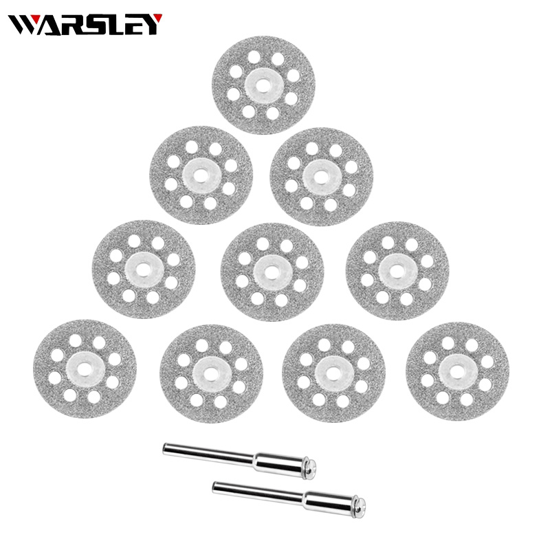 12 PCS Diamond Grinding Dremel Accessories Discs Metalworking Circular Saw Cutting Disc For Engraver Electric Mini Drill