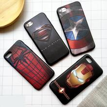 Marvel phone cover case for iphone X XS MAX XR 10 8 7 6 6s plus matte 3d relief soft silicone Spiderman iron Man coque funda