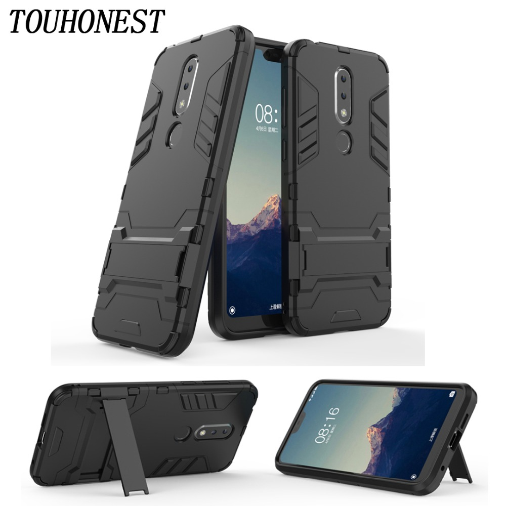 Shockproof Tough Rubber Hybrid Armor Coque Case For Nokia 5.1 6.1 7 Plus 2.1 1 7 8 Sirocco 3 8.1 7.1 9 Case Full Back Cover Case