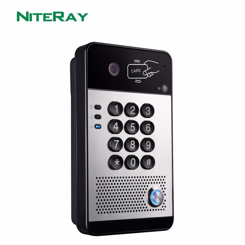 Sip/Voip Vidéo Porte Téléphone, porte Téléphone Bureau Interphone Système pour Hôtel, Bureau, Hôpital et Appartement
